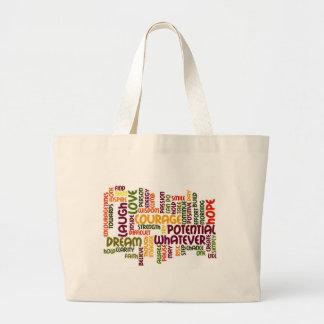 Influência positiva inspirador das palavras #1! bolsa de lona