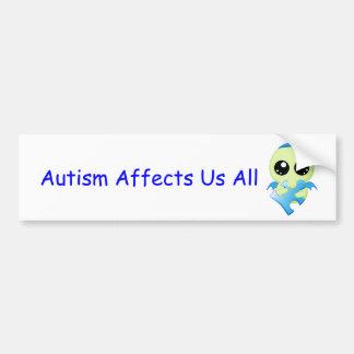 Influências do autismo - bebê Cthulhu Adesivo Para Carro