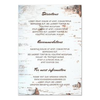 Informação de detalhes rústica do casamento do convite 8.89 x 12.7cm