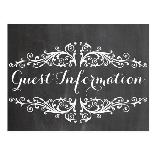 informação do convidado do casamento do quadro cartoes postais