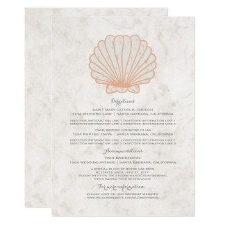 Informação rústica alaranjada do casamento do convite 12.7 x 17.78cm