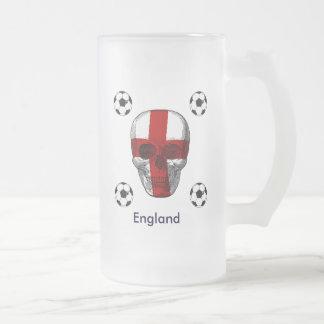 Inglaterra até eu morro presentes dos amantes do caneca de cerveja vidro jateado