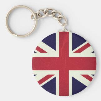 Inglaterra Bandeira Grunged Chaveiro