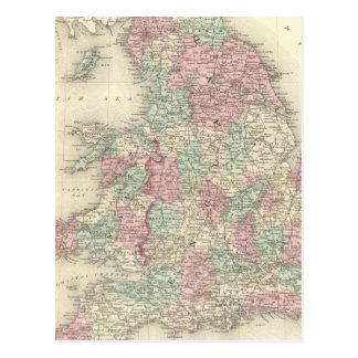 Inglaterra e Wales 5 Cartão Postal