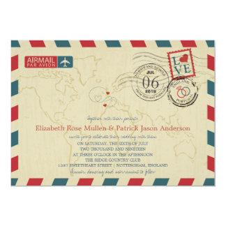 Inglaterra Reino Unido/correio aéreo | de Portugal Convite 12.7 X 17.78cm