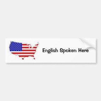 Inglês falado aqui - personalizado adesivo para carro