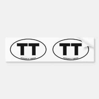 Iniciais ovais da identificação da identificação adesivo para carro