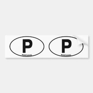 Iniciais ovais do código de identificação da adesivo para carro