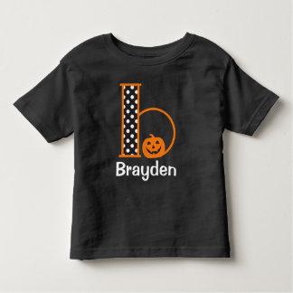 Inicial b do monograma da abóbora de w do Tshirt