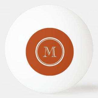 Inicial colorida parte alta do monograma da bola de ping pong