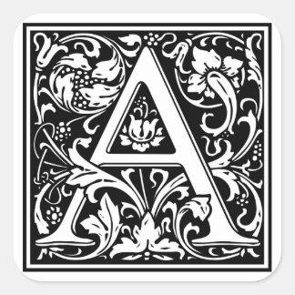 Inicial decorativa A da letra Adesivo