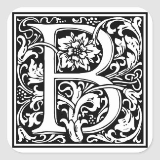 Inicial decorativa B da letra Adesivos