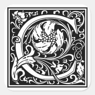 Inicial decorativa C da letra Adesivo