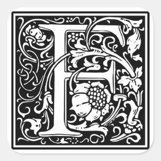 Inicial decorativa F da letra Adesivos