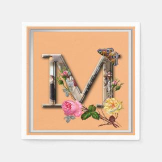 "Inicial decorativa ""M"" da letra Guardanapo De Papel"