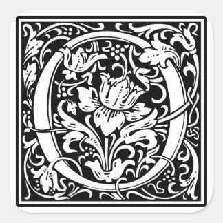 Inicial decorativa O da letra Adesivo