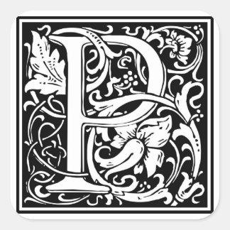 Inicial decorativa P da letra Adesivos