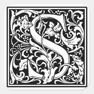Inicial decorativa S da letra Adesivos