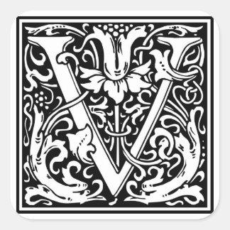 Inicial decorativa V da letra Adesivo