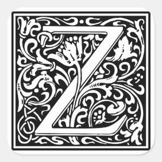 Inicial decorativa Z da letra Adesivos