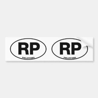 Inicial oval do código de identificação da adesivo para carro