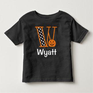 Inicial W do monograma da abóbora de w do Tshirt
