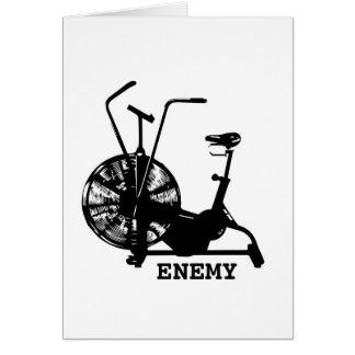 Inimigo da bicicleta do ar cartão comemorativo