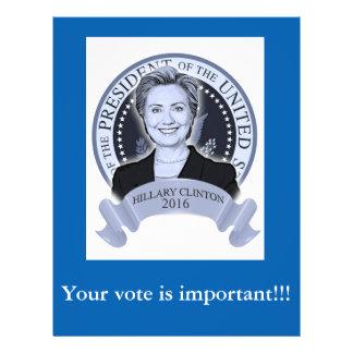 Insecto 2016 de Hillary Clinton Flyer 21.59 X 27.94cm