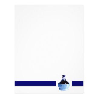 Insecto azul da garrafa de vinho panfleto