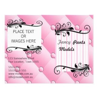 Insecto cor-de-rosa do diamante panfleto personalizados