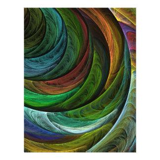 Insecto da arte abstracta da glória da cor flyer 21.59 x 27.94cm