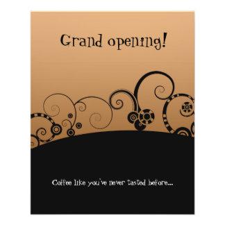 """Insecto da """"cafetaria"""" da grande inauguração panfletos personalizados"""