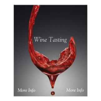 Insecto da degustação de vinhos modelo de panfleto