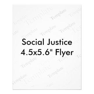 """Insecto de justiça social 4.5x5.6"""" flyer 11.43 x 14.22cm"""