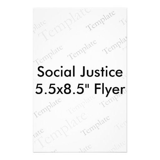 """Insecto de justiça social 5.5x8.5"""" panfletos personalizado"""