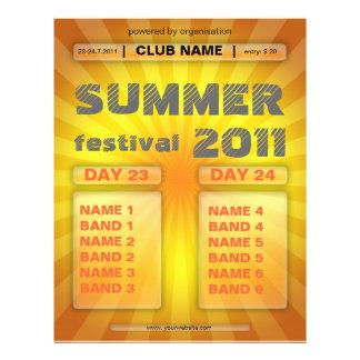 insecto do festival do verão flyer 21.59 x 27.94cm