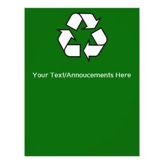 Insecto do reciclar flyer 21.59 x 27.94cm