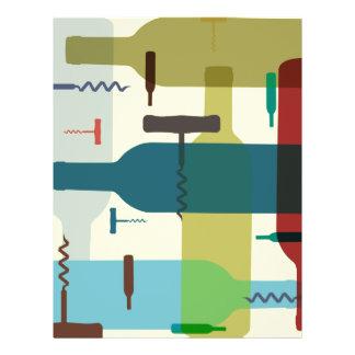 Insecto temático da garrafa de vinho flyer 21.59 x 27.94cm