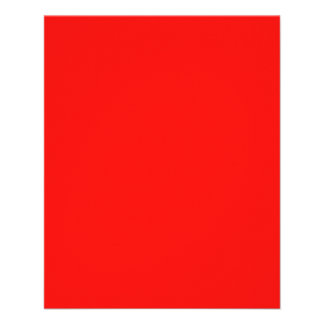 Insecto vermelho de néon brilhante flyer 11.43 x 14.22cm