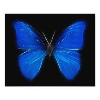 Inseto de vôo azul da borboleta panfletos