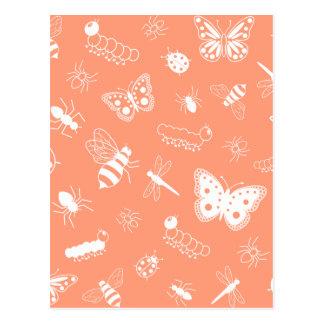 Insetos do vetor & borboletas brancos (parte cartoes postais