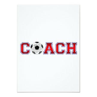 Insígnias agradáveis do futebol do treinador convite 12.7 x 17.78cm