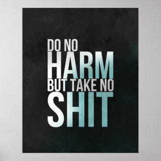 Inspirado engraçado do poster da tipografia da art