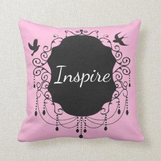 Inspire o rosa gótico do travesseiro decorativo do almofada
