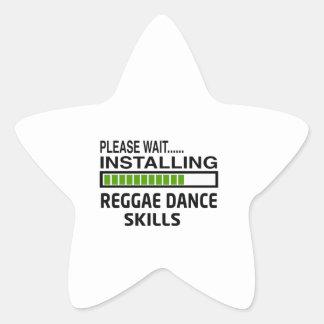 Instalando habilidades da dança da reggae adesivos estrelas