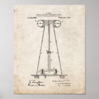 Instrumento de Tesla para transmitir a energia Posteres