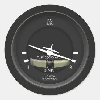 Instrumento do coordenador da volta dos aviões adesivo