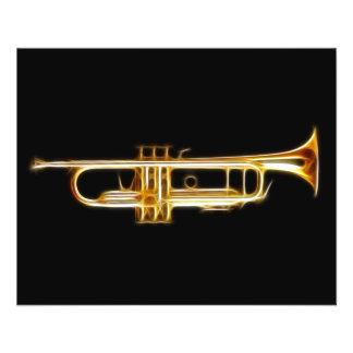 Instrumento musical do vento do chifre de bronze flyer 11.43 x 14.22cm