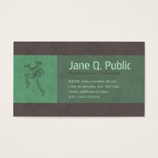 Instrutor pessoal cartão de visitas