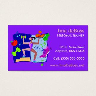Instrutor pessoal da malhação cartão de visitas